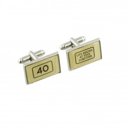 Life Begins... - 40th Birthday - Cufflinks