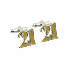 Number 21 - 21st Birthday Cufflinks