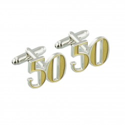Number 50 - 50th Birthday Cufflinks