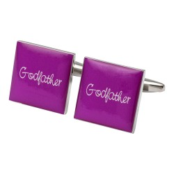 Square Hot Pink - Godfather Cufflinks