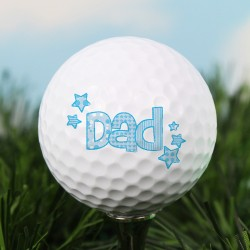 Personalised Message Dad Golf Ball