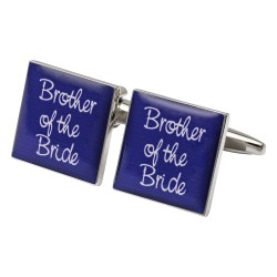Square Purple- Brother of the Bride Cufflinks