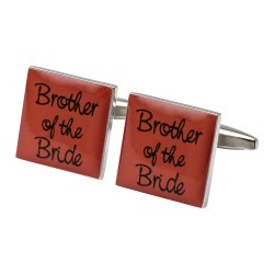 Square Orange- Brother of the Bride Cufflinks