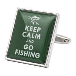 Keep Calm and Go Fishing Cufflinks