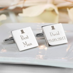 Personalised Top Hat Best Man Cufflinks