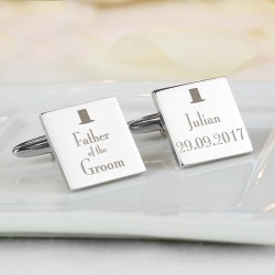 Personalised Top Hat Father of the Groom Cufflinks