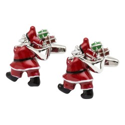 Father Christmas and His Sack Cufflinks