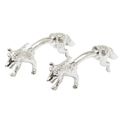 Bar Style Double End Fox Cufflinks