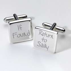 If Found...Personalised Cufflinks