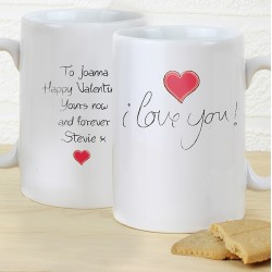 Personalised I Love You Slim Mug