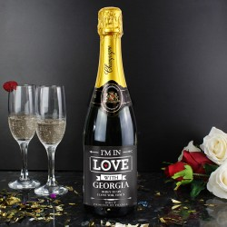 Personalised In Love Champagne