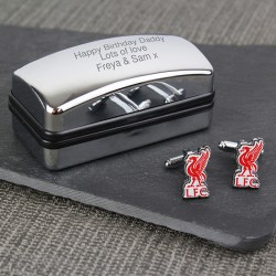 Personalised Liverpool FC Cufflinks Gift Set