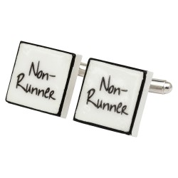 """Non-Runner"" Bone China Cufflinks"