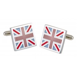 Square Union Jack Flag Cufflinks