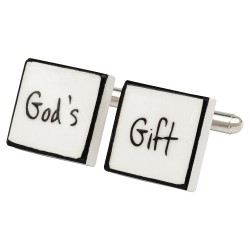 """God's Gift"" Bone China Cufflinks"