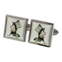 Alice in Wonderland Mad Hatter Cufflinks