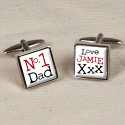 Personalised No1 Dad Cufflinks