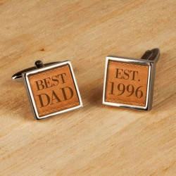 Personalised Best Dad Cufflinks