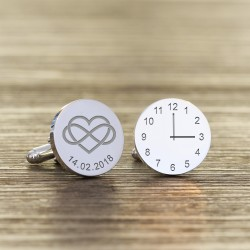Heart Infinty - Personalised Special Time Wedding Cufflinks