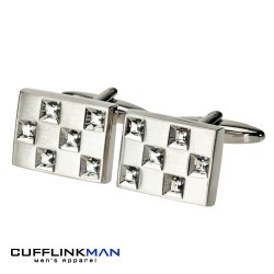 ANDELL Crystal Cufflinks