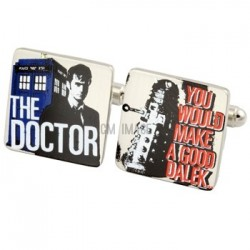 Dr. Who Protection and Curse Cufflinks