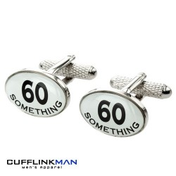 60 Something Birthday Cufflinks