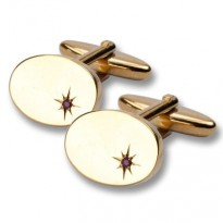 Esquire - Ruby with Gold Plate Cufflinks