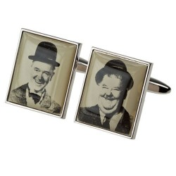 Laurel and Hardy Photo Cufflinks
