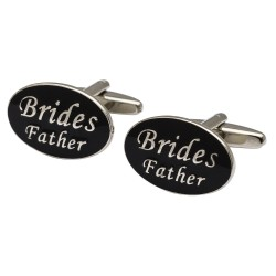 Oval Black - Brides Father Cufflinks