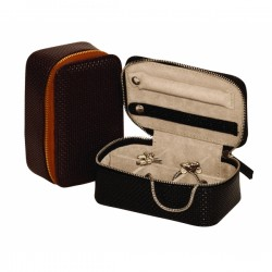 Gents Travel Cufflinks Case - Brown