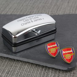 Personalised Arsenal FC Cufflinks Gift Set