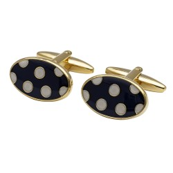 The Polka- Spotty Cufflinks - Gold Plated Edition