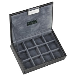 Stackers -Grey and Black Cufflinks Case