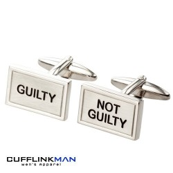 Guilty and Not Guilty - Brushed Cufflinks