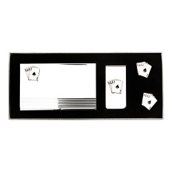 Aces Cufflinks Gift Set