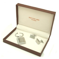 Boston Cufflinks & Key Ring Boxed Gift Set