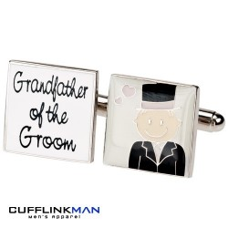 Smile Pink Design - Grandfather of the Groom Cufflinks