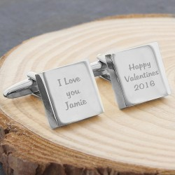 Personalised Valentines Cufflinks - Engraved Cufflinks