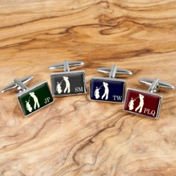Golf Cufflinks - Personalise with Your Initials