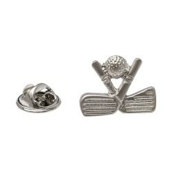 Golf Lapel Pin - Golf Clubs Lapel Badge By Onyx-Art London